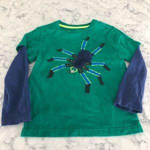 Mini Boden Mixed Media Spider Shirt